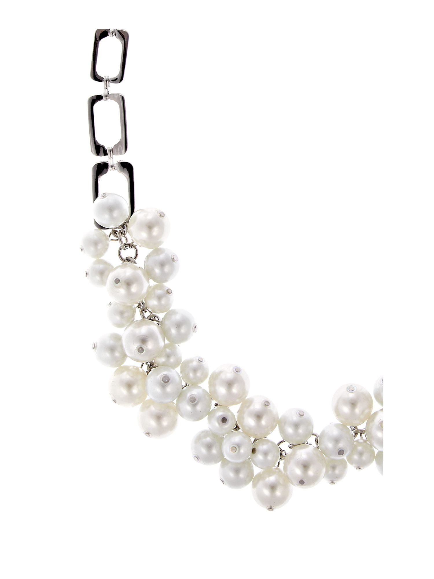 Miss France Pearl Cluster Necklace