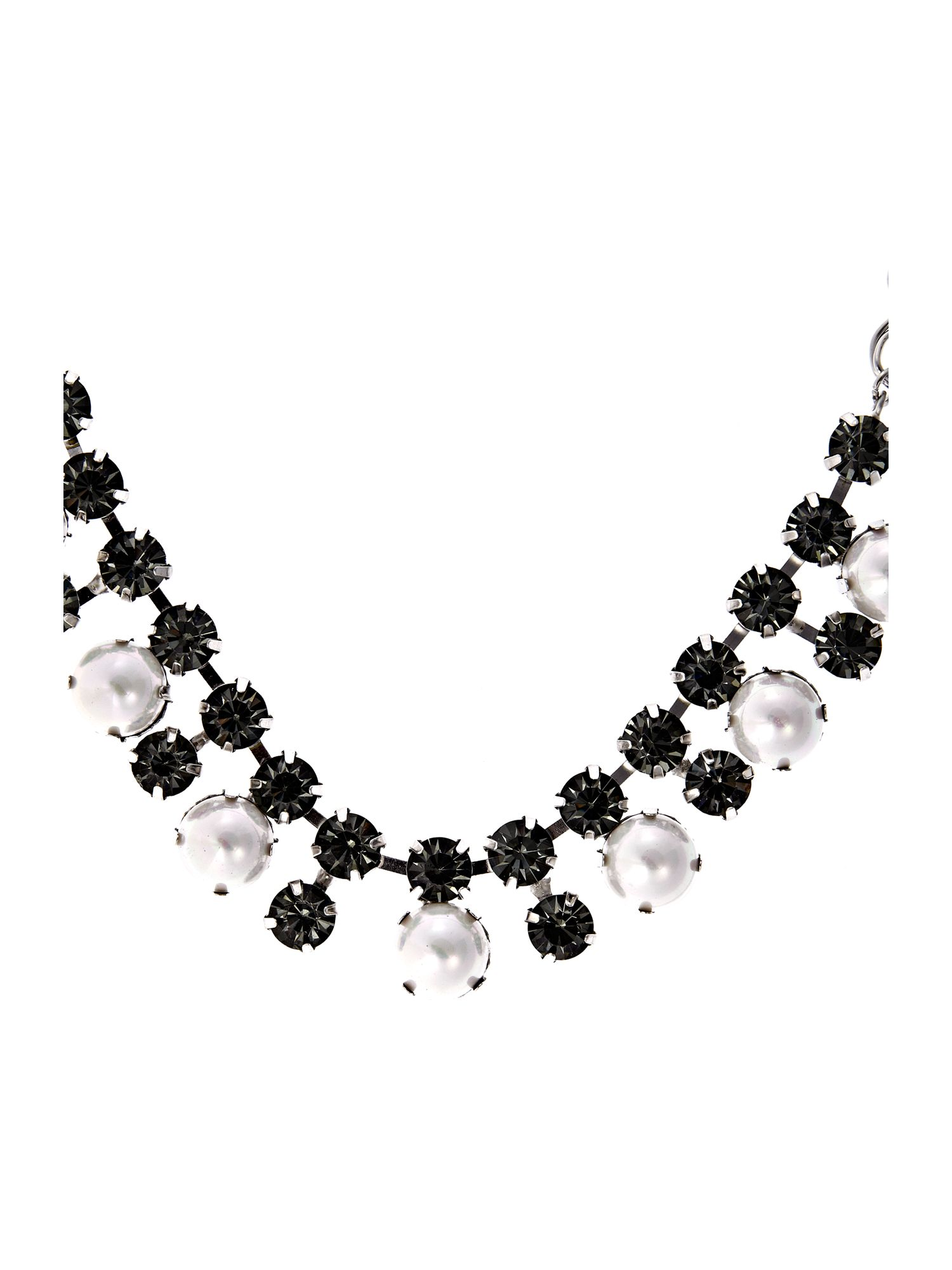 Miss France Pearl And Stone Mix Necklace