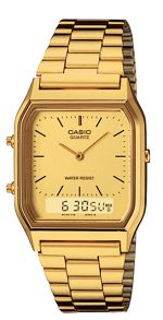 Casio AQ-230GA-9DMQYES retro gold watch