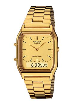 AQ-230GA-9DMQYES retro gold watch