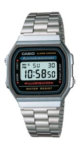 Casio A168WA-1YES retro silver watch