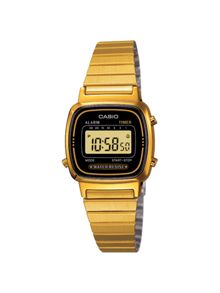 Casio LA670WEGA-1EF retro gold watch