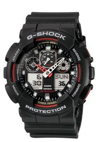 G-Shock G-Shock GA-100-1A4ER black sports mens watch