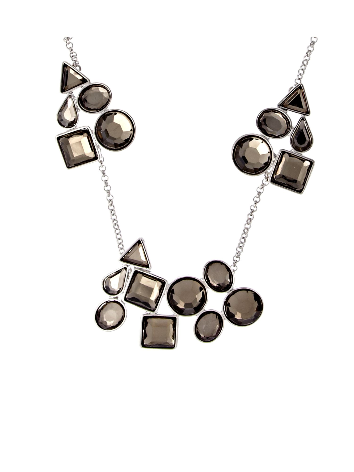 Miss France Cut Stone Station Necklace