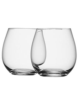 Wine stemless white wine glass x4 clear