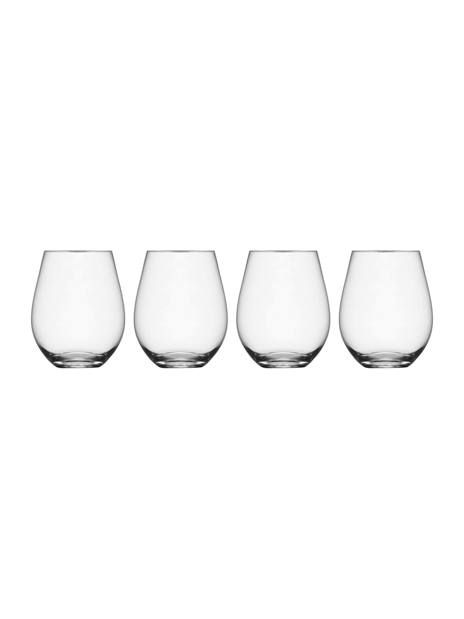 Wine collection stemless red wine, set of 4