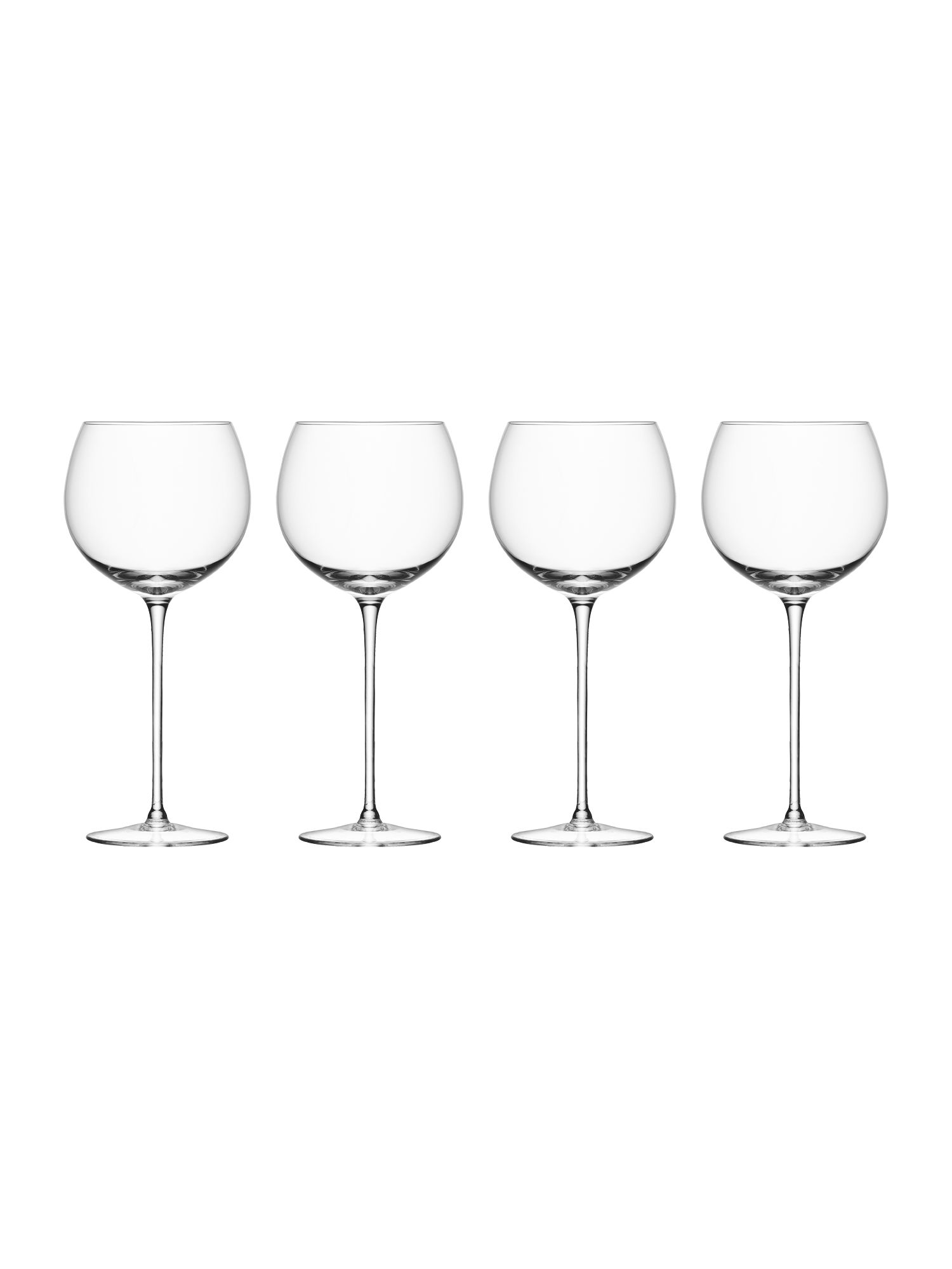 Wine collection balloon wine glasses, set of 4