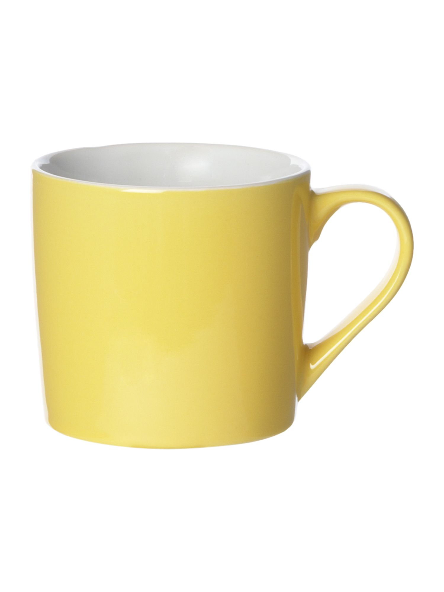 Yellow colour mug