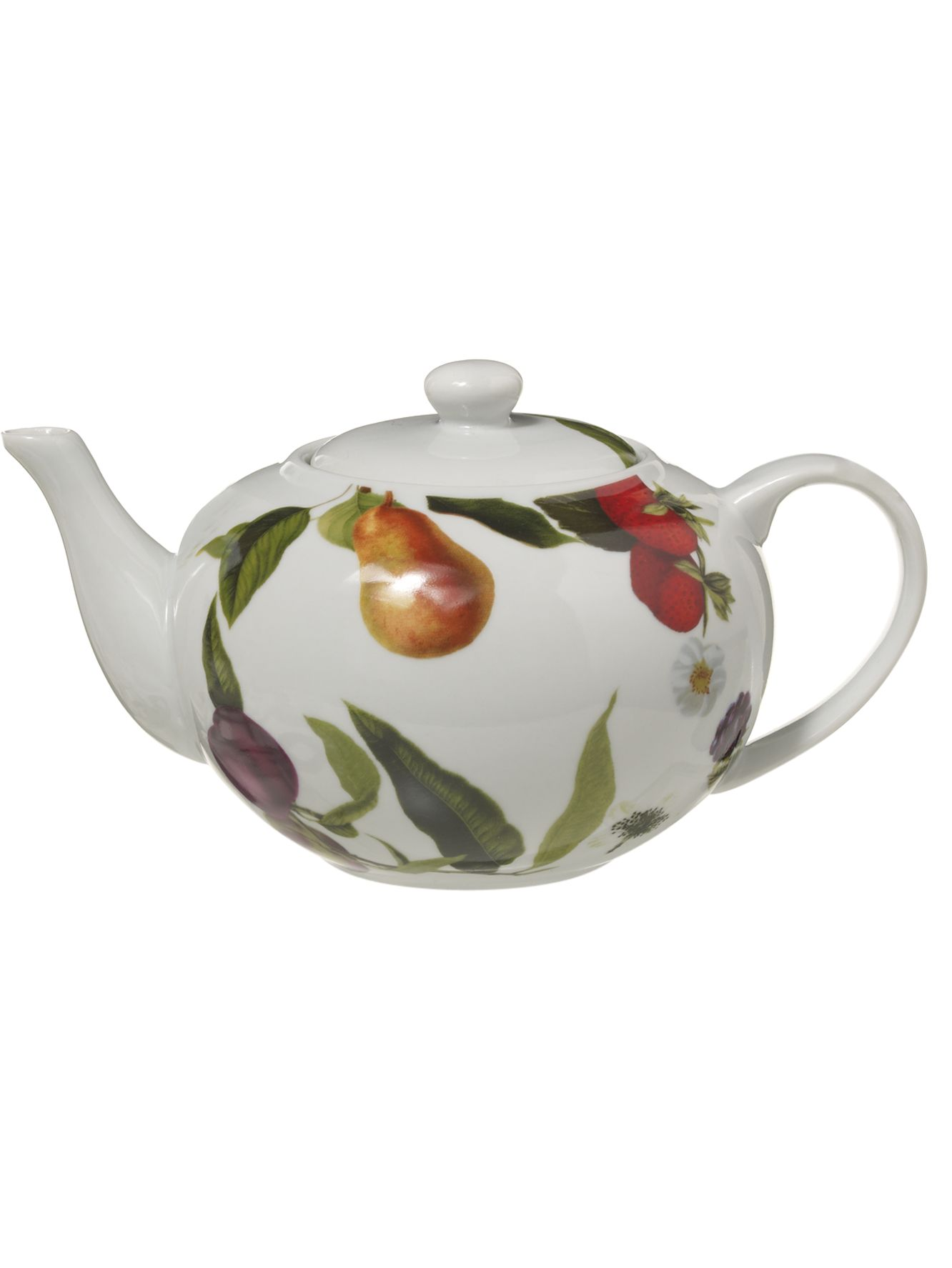 Botanical fruits teapot