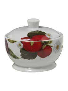 Botanical fruits sugar bowl