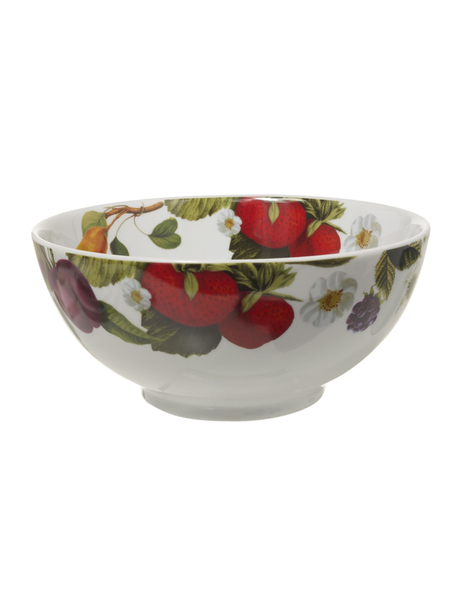 Botanical fruits serving bowl
