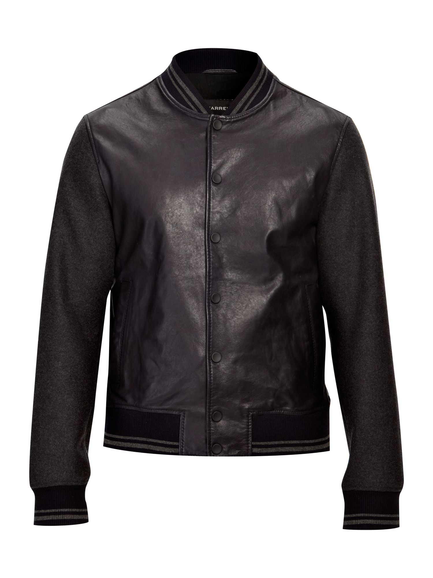 Dean leather baseball jacket