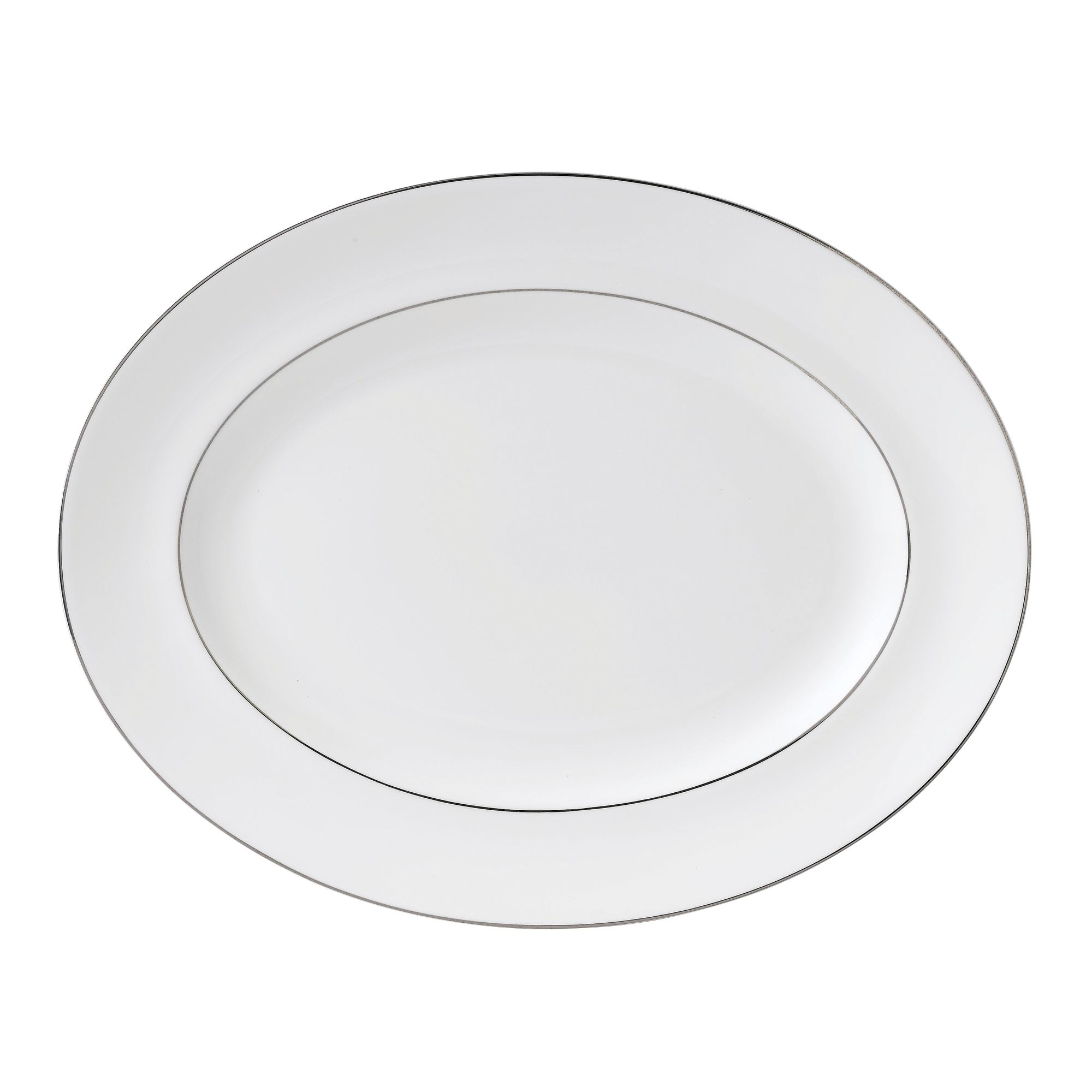 Signet platinum small oval dish