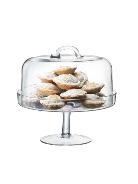 LSA Serve cakestand & dome 24cm