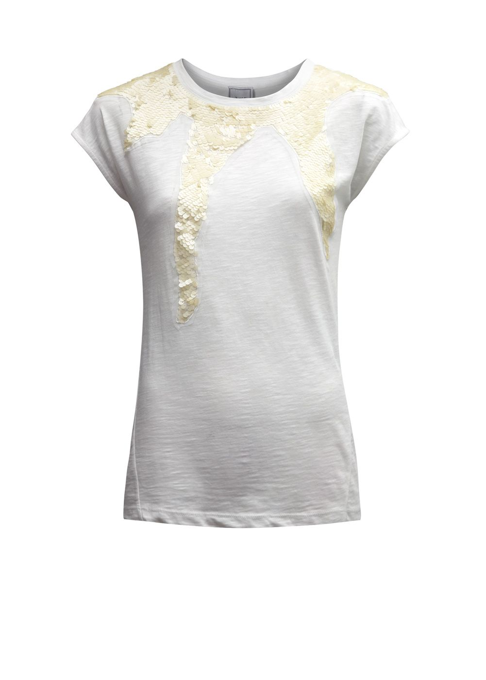 Mango Womens Mango Round neck t-shirt, Off White product image