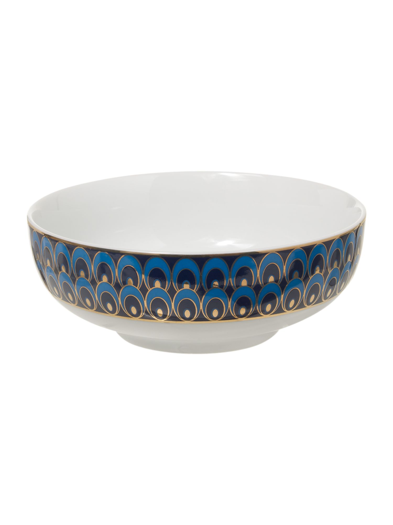 Peacock cereal bowl