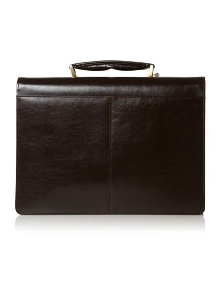 Linea Linea brown 3 gusset briefcase