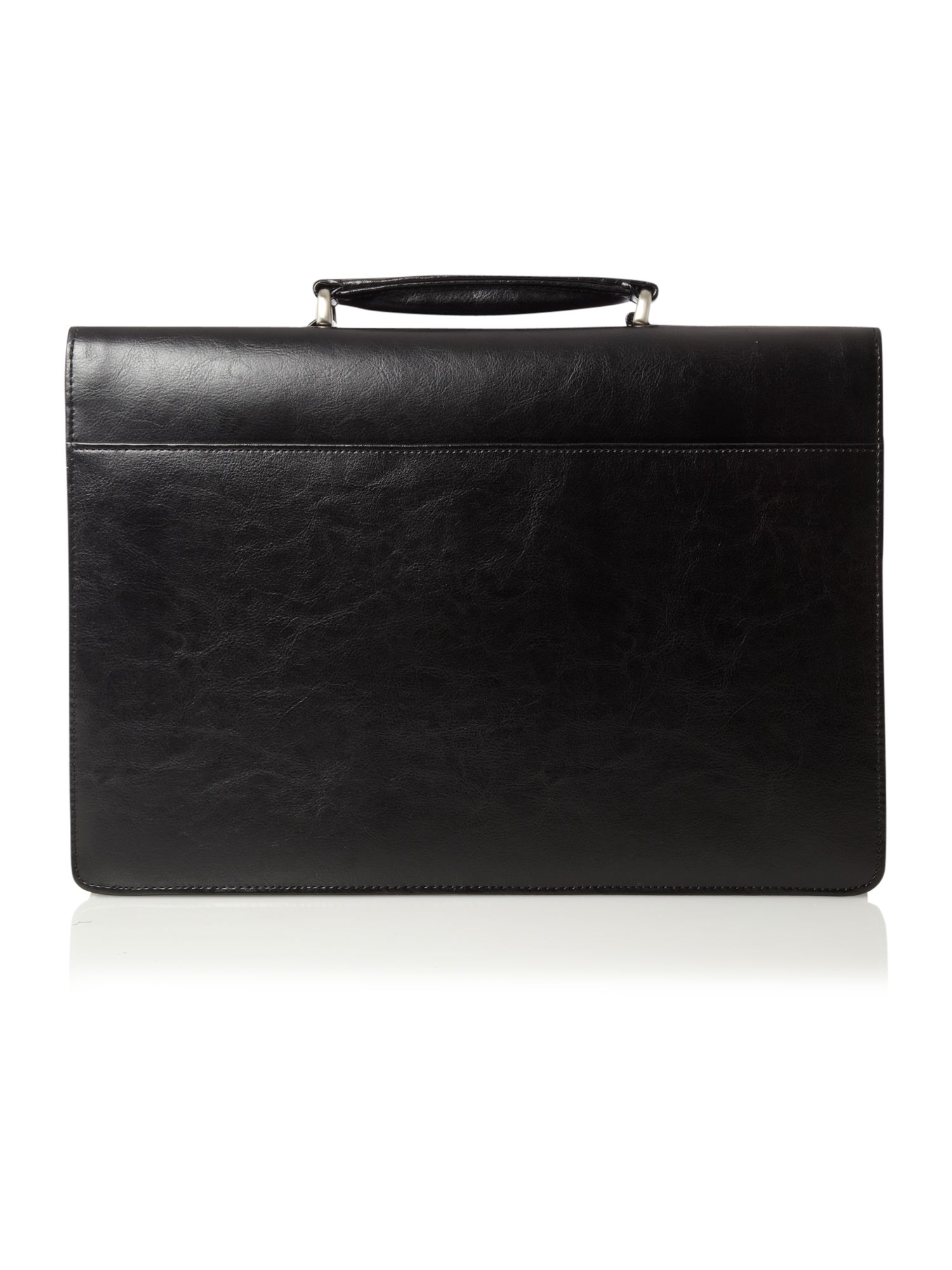 Linea black 2 gusset briefcase