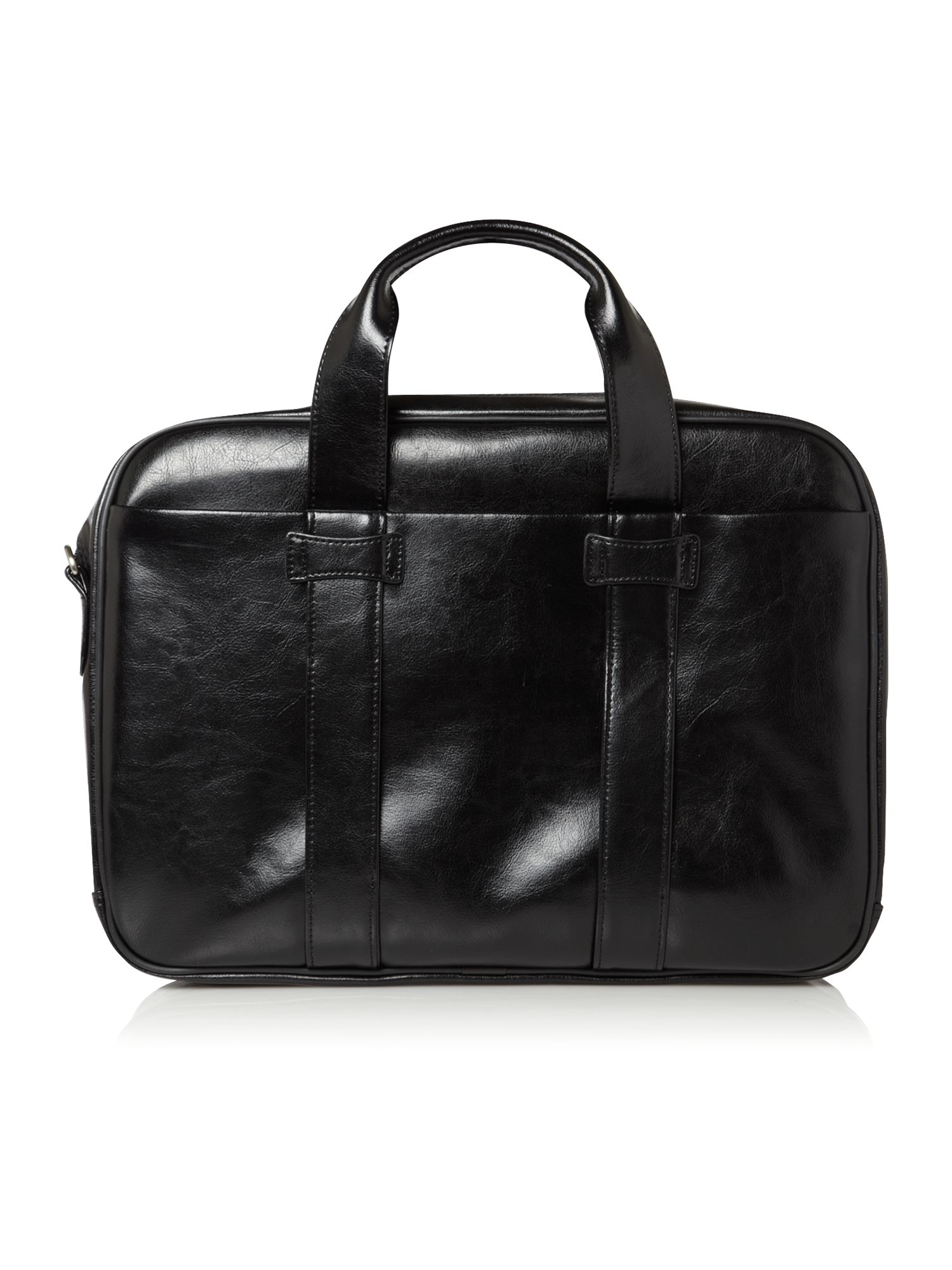 Linea black 2 compartment computer bag