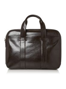 Linea brown 2 compartment computer bag