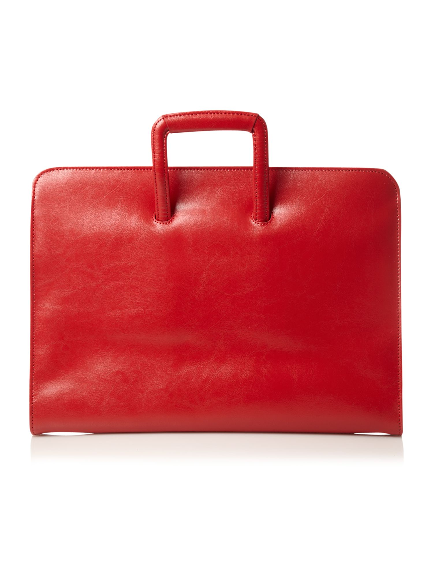 Linea red drop handle folio