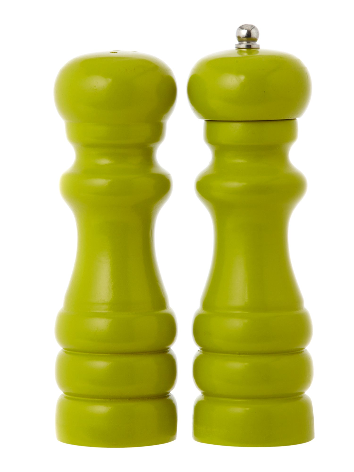 Linea Brights salt and pepper set, lime