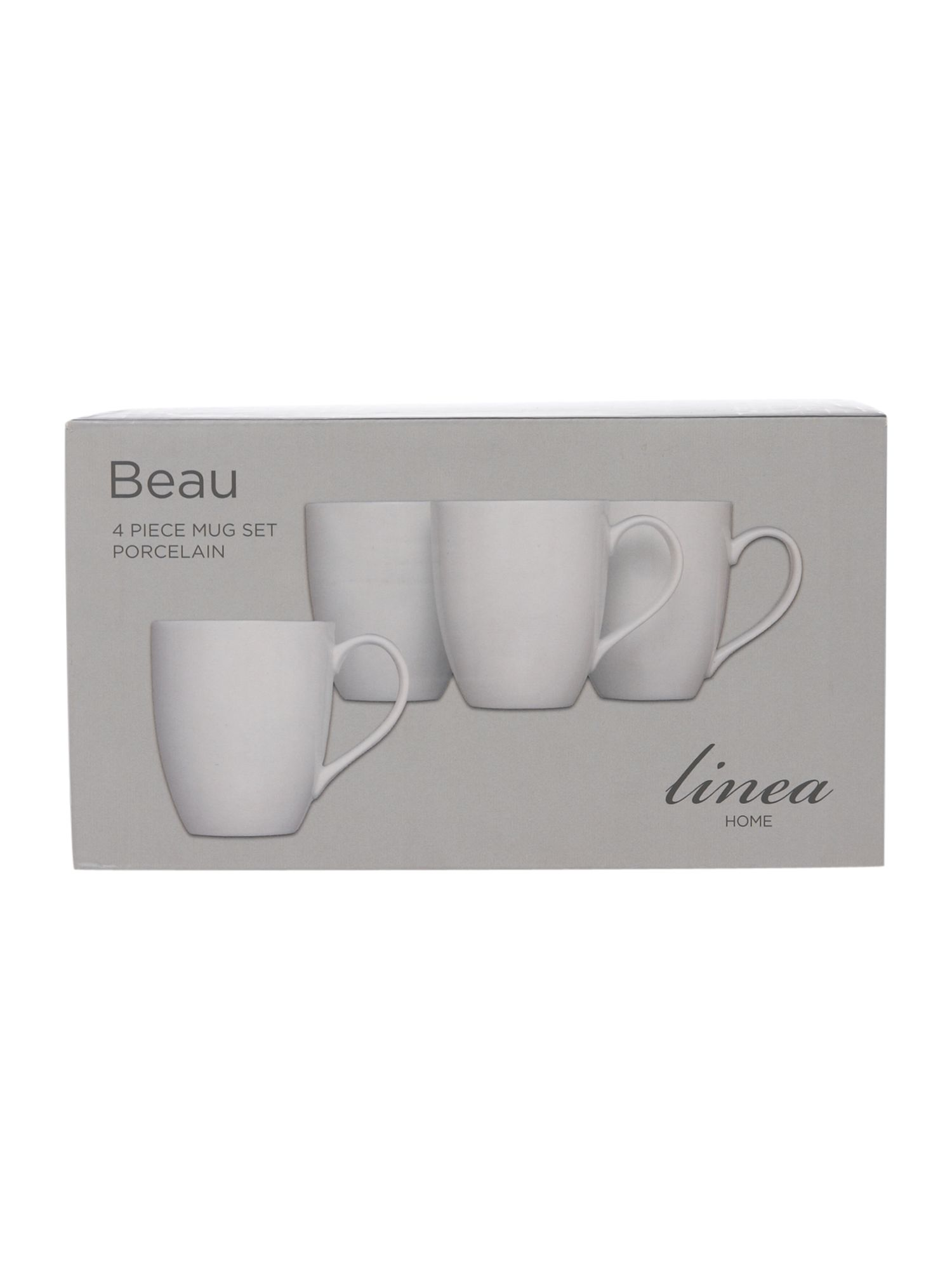 Beau 4 piece mug set