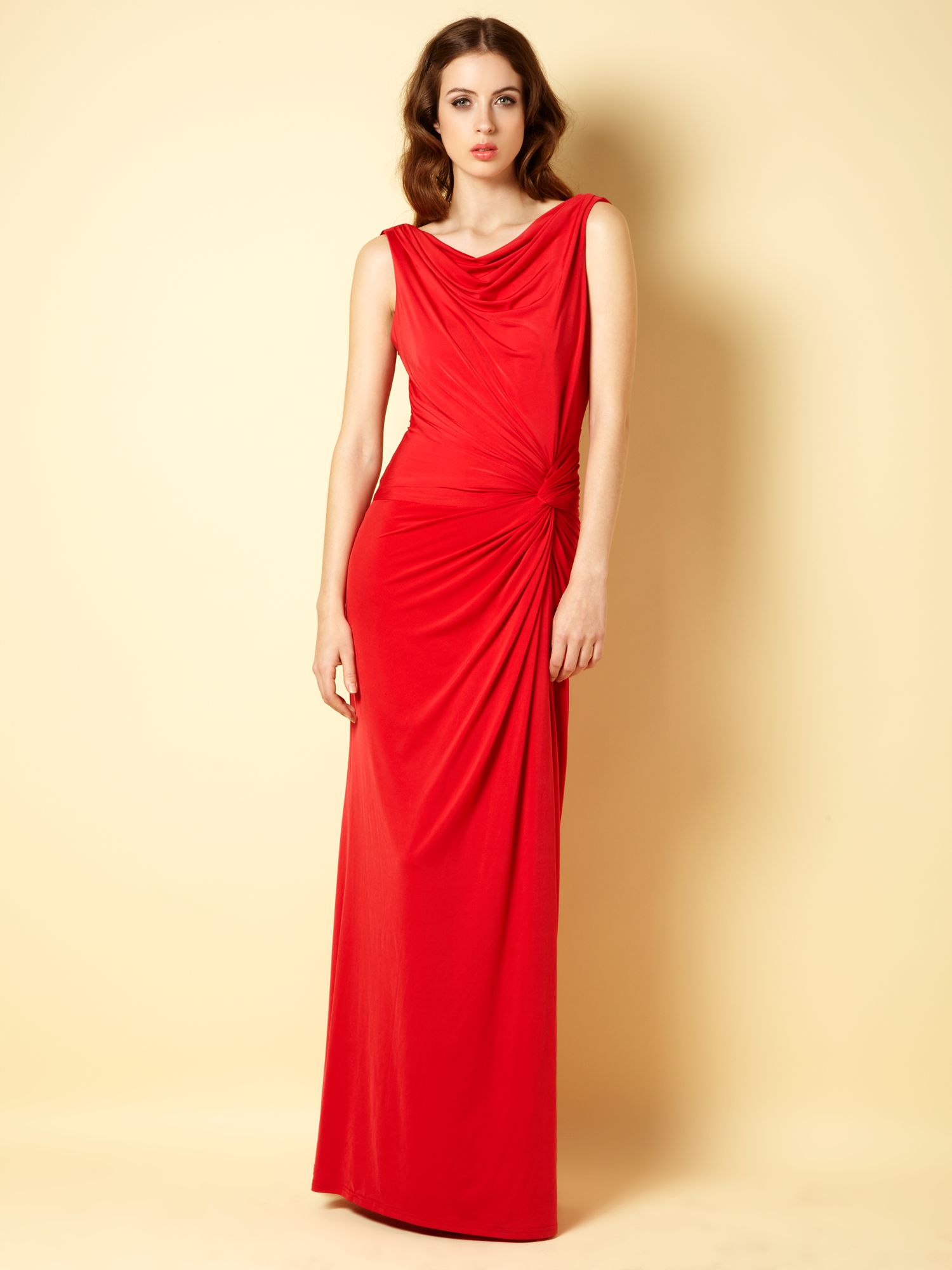 Clara cowl back maxi dress