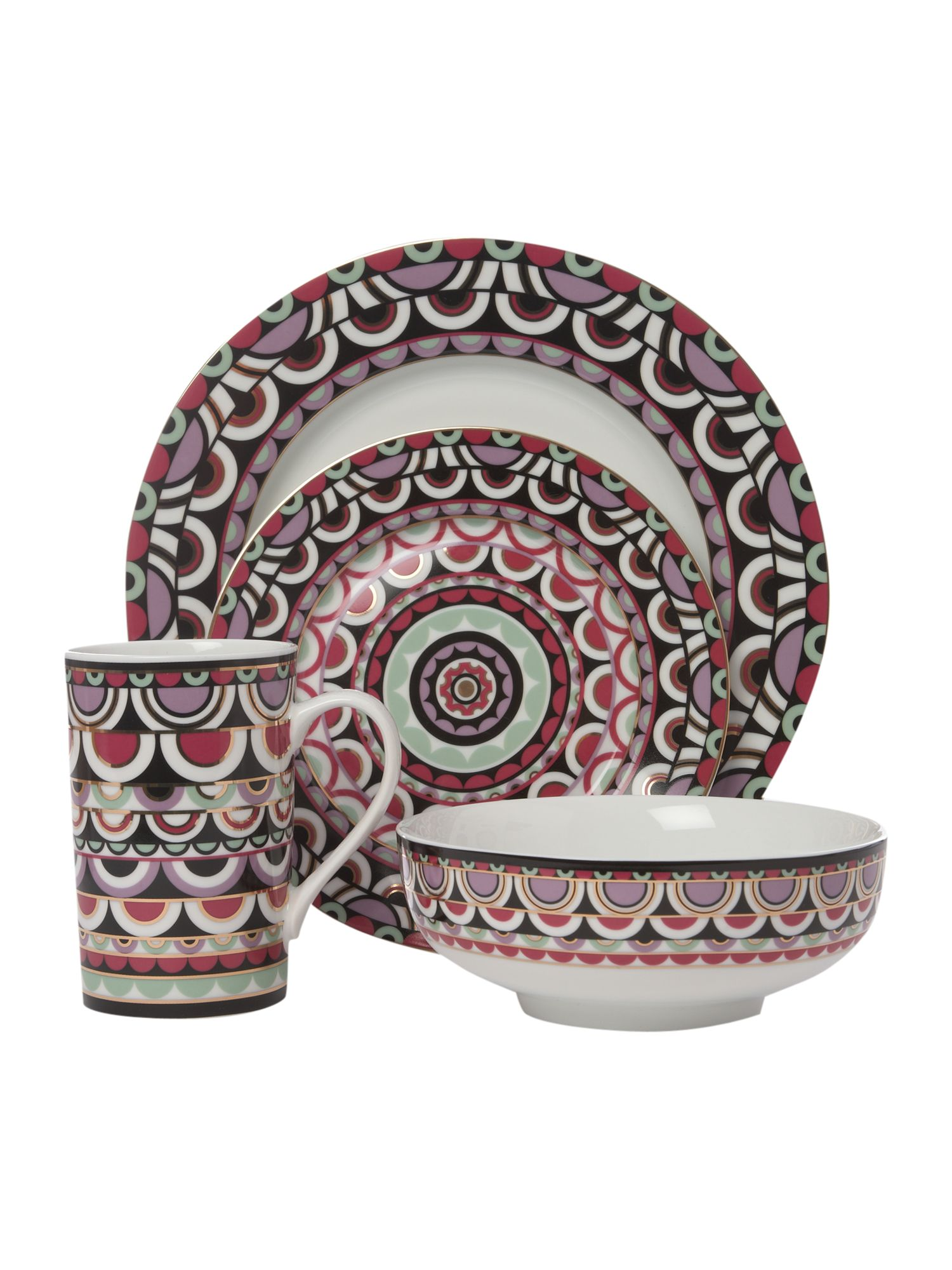 Persia Jewels 16 piece dinner set