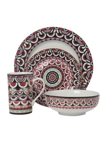 Pied a Terre Persia Jewels 16 piece dinner set