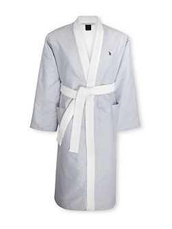 Oxford bath robe