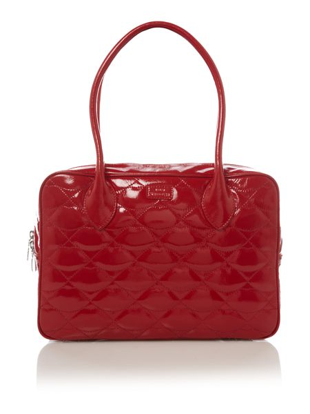 Lulu Guinness Large jenny quilted bowling bag
