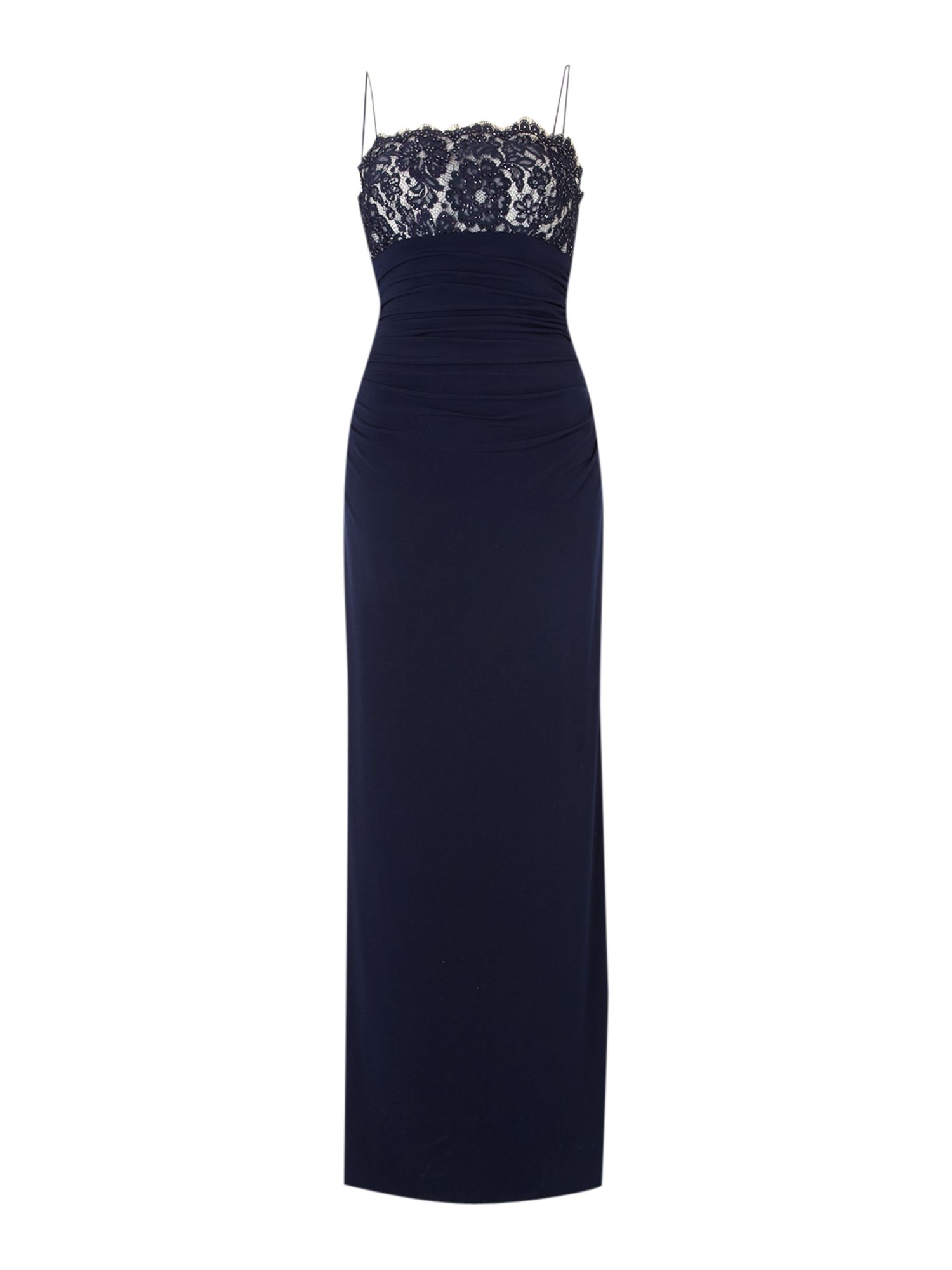 Js Collections Strappy Lace Dress, Navy