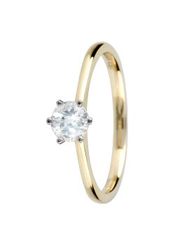 Canadian Ice Canadian Ice 18ct Gold 0.33ct 6 Claw Diamond Ring, Silver