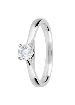 Canadian Ice Canadian Ice 18ct Gold 0.25ct 4 Claw Diamond Ring, Silver