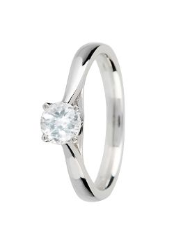 Canadian Ice Canadian Ice 18ct Gold 0.40ct 4 Claw Diamond Ring, Silver
