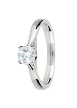 Canadian Ice Canadian Ice 18ct Gold 0.50ct 4 Claw Diamond Ring, Silver