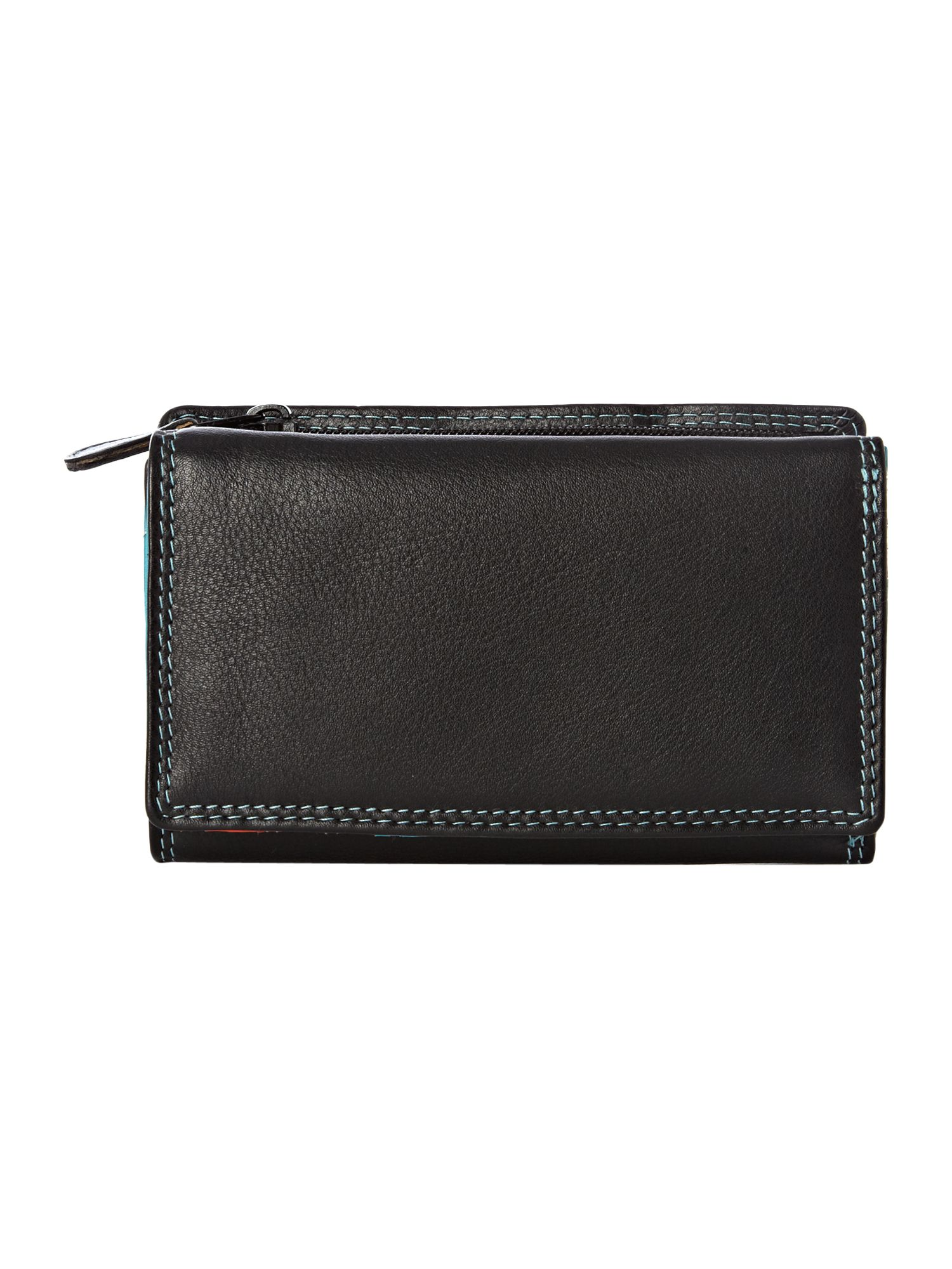 Black internal medium flapover purse