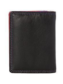 Black and multi coloured card holder