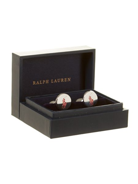 Polo Ralph Lauren Cufflinks with pony player motif