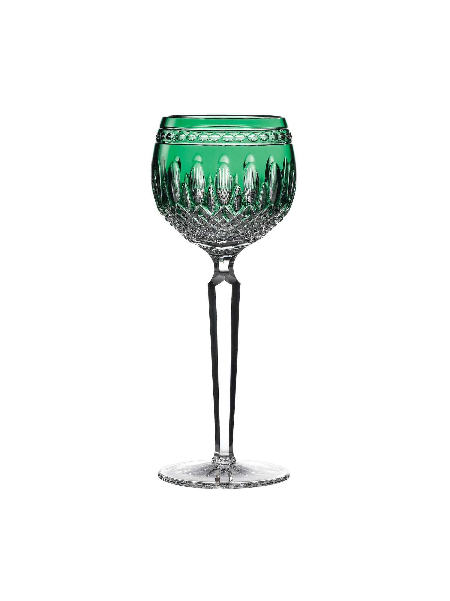 Waterford Clarendon emerald hock glass set of 2