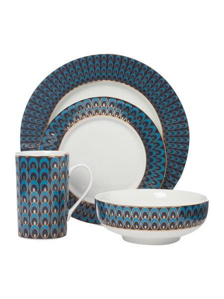 Pied a Terre Peacock 16 piece dinner set