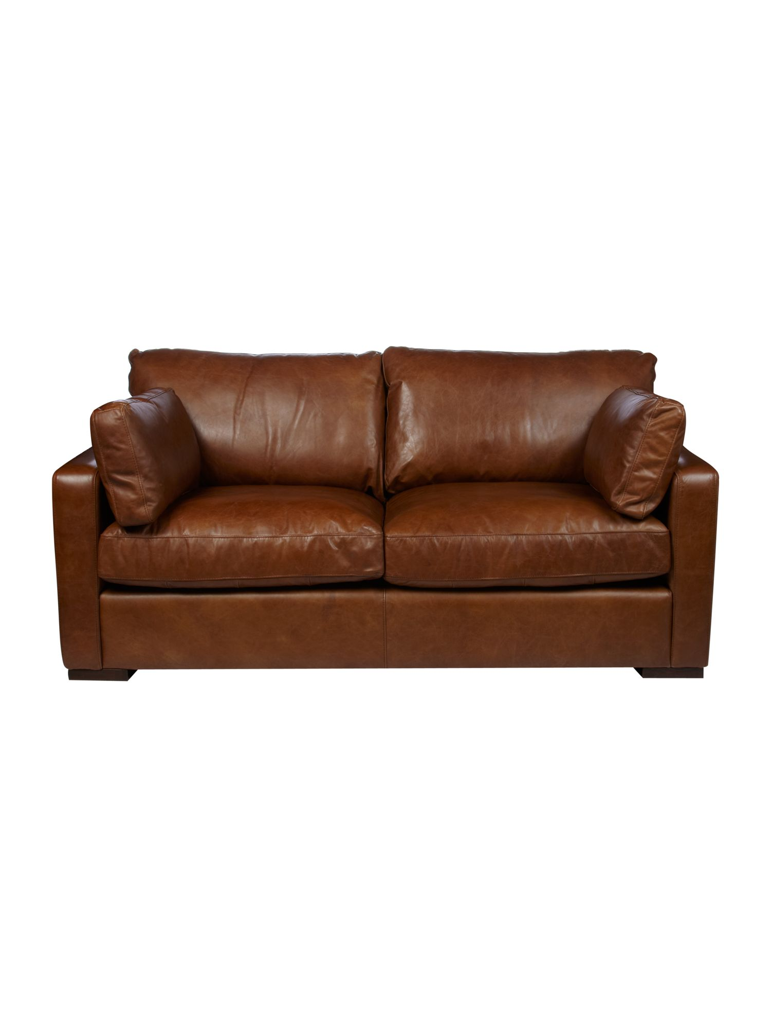 Idaho medium 2 seater sofa light brown