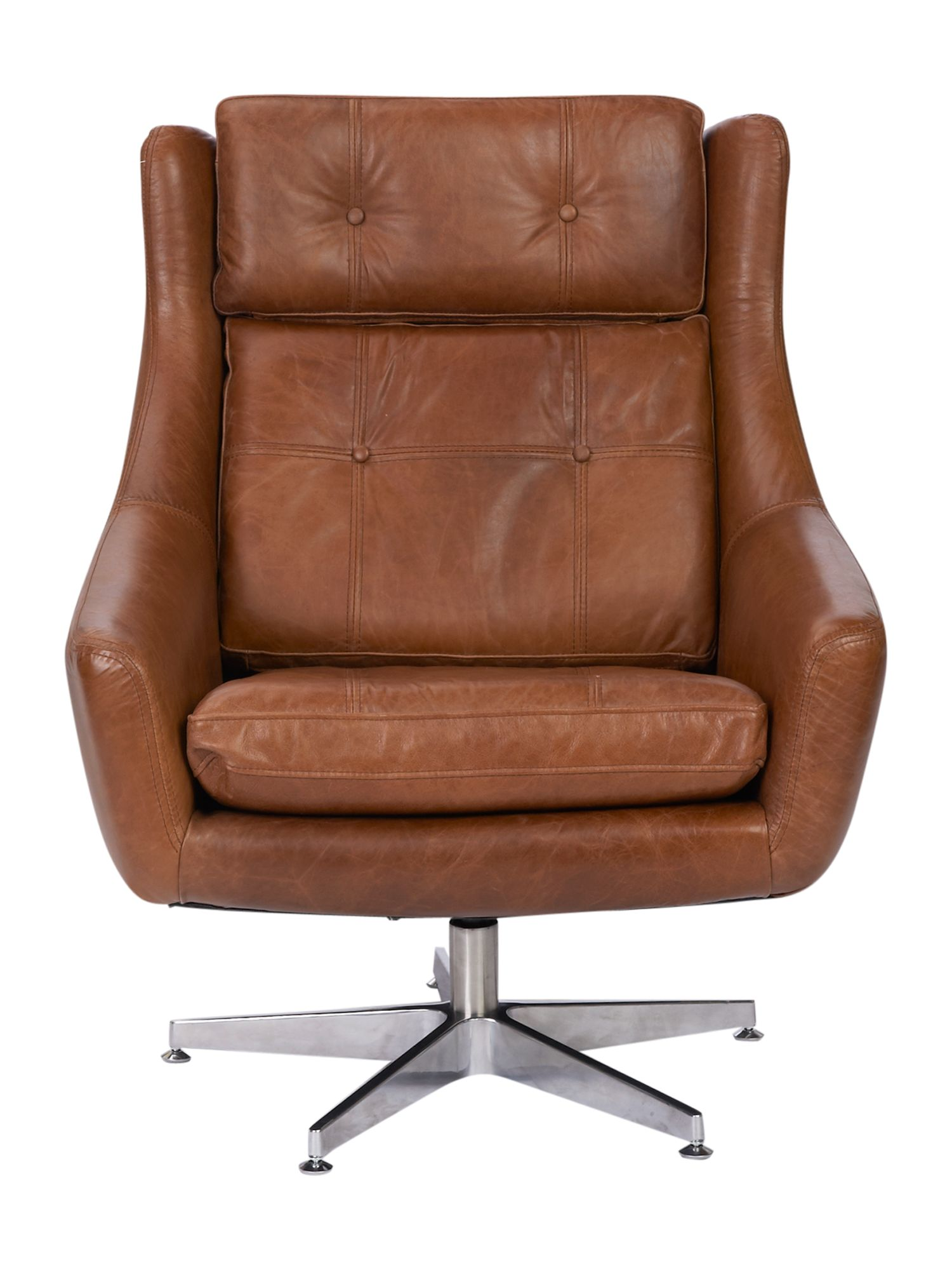 Idaho swivel accent chair light brown