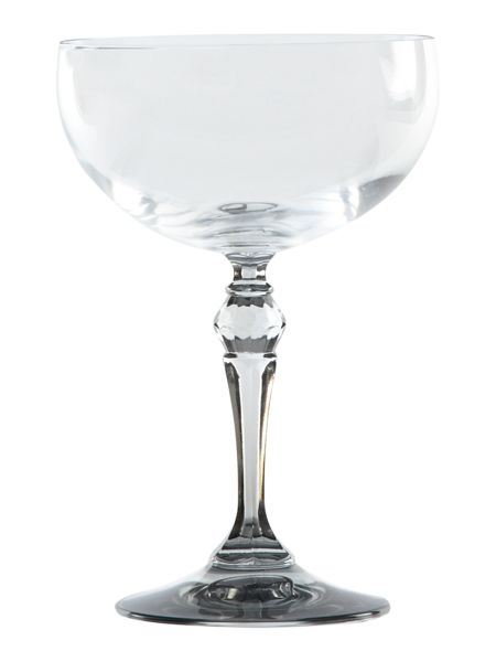 Shabby Chic Annabelle champagne saucer grey
