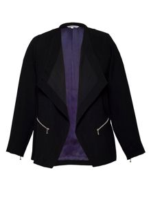 Zip detail buggy lined jacket