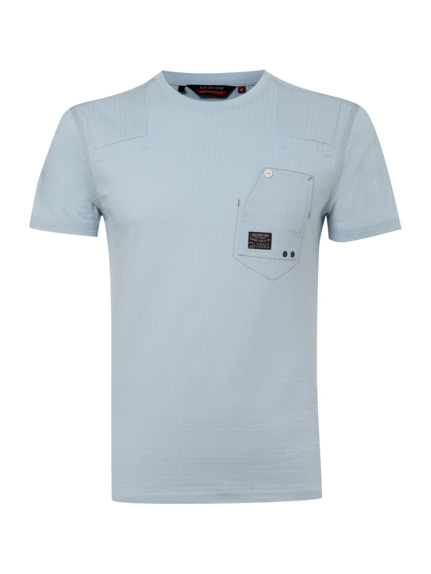 Duck and Cover Mens Duck and Cover Cotton ripstop T-shirt, product image