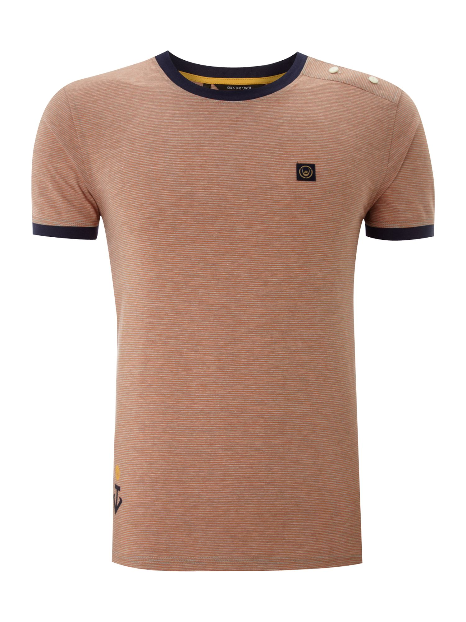 Duck and Cover Mens Duck and Cover Marl stripe T-shirt, product image