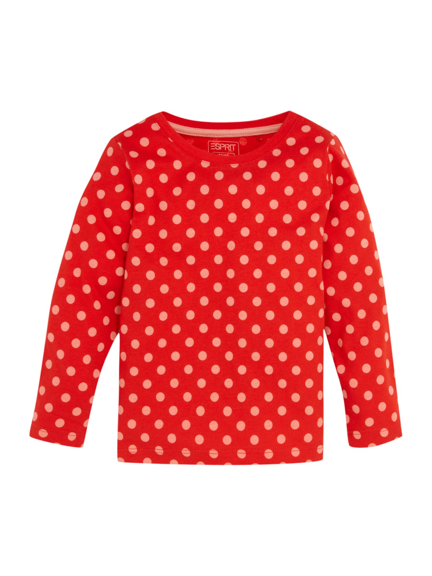 Esprit Long sleeve printed t-shirt, Red 161977782 product image