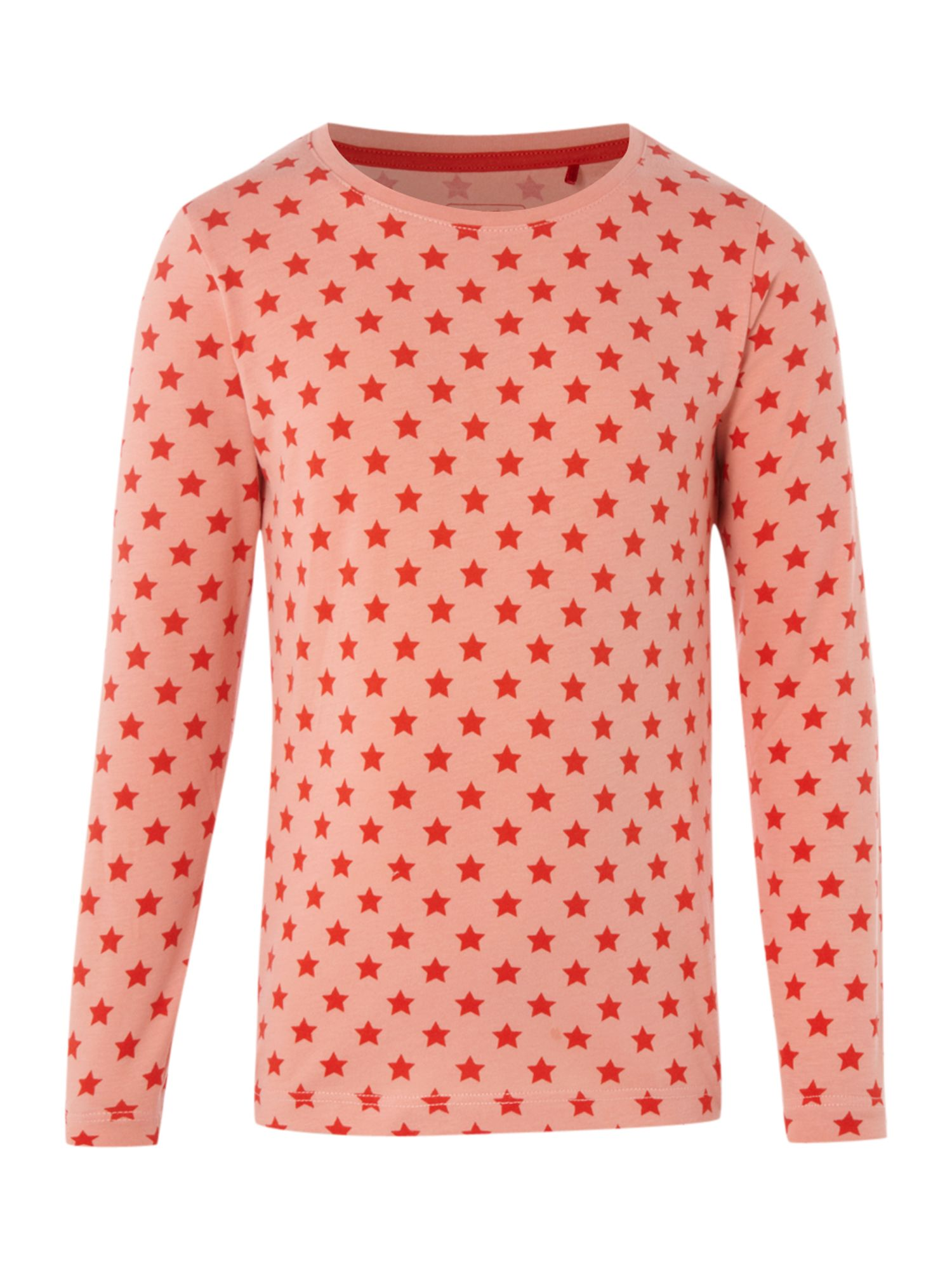 Esprit Long sleeve printed t-shirt, Peach product image